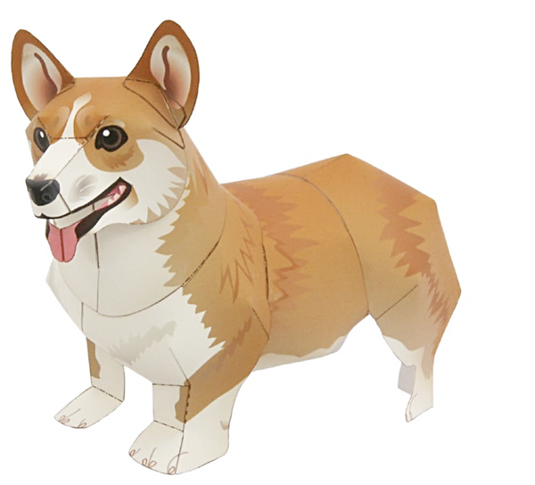 Corgi DIY Paper Figurine for Craft