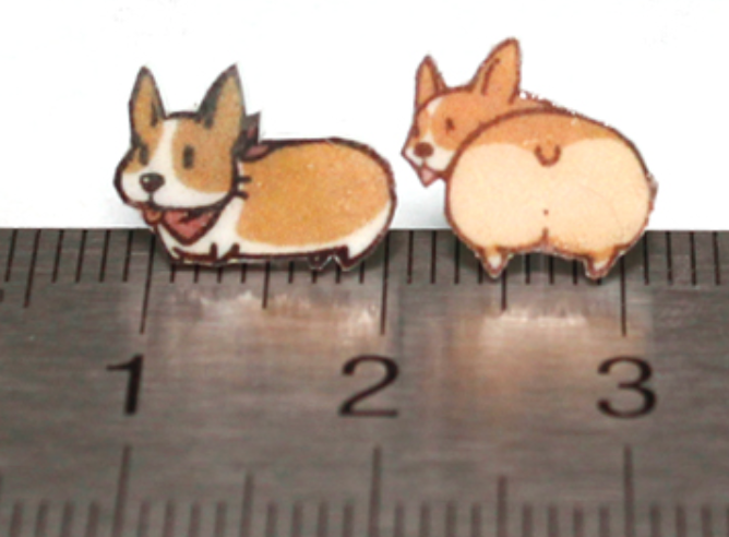 Stylish Corgi Plastic Ear Studs