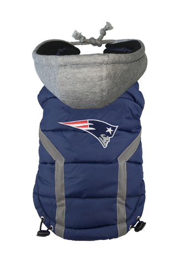 [FOR CORGI] NEW ENGLAND PATRIOTS NFL PUFFER VEST BY HipDoggie