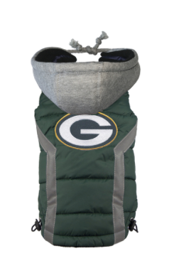 [FOR CORGI] GREEN BAY PACKERS NFL PUFFER VEST BY HipDoggie