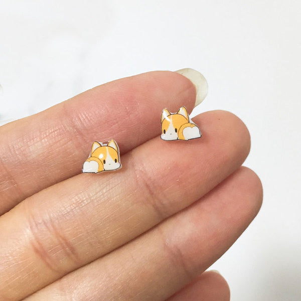 Corgi Anti-Allergy Plastic Ear Studs