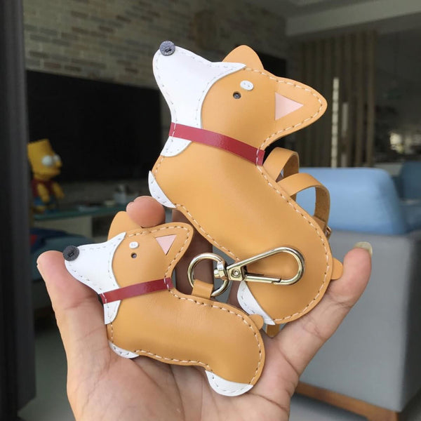 Corgi Leather Keychain/Bag Charm/ Coin Pouch/ Cardholder