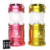 LED Camping Lantern Set of 2 Red & Purple - MalloMe