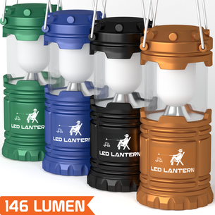 MalloMe Camping Lantern LED Emergency Light Battery Powered 4 Pack - MalloMe