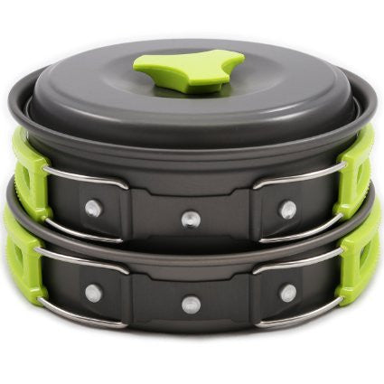 10 Piece Camping Cookware Mess Kit