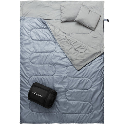 Double Camping Sleeping Bag in Grey - MalloMe