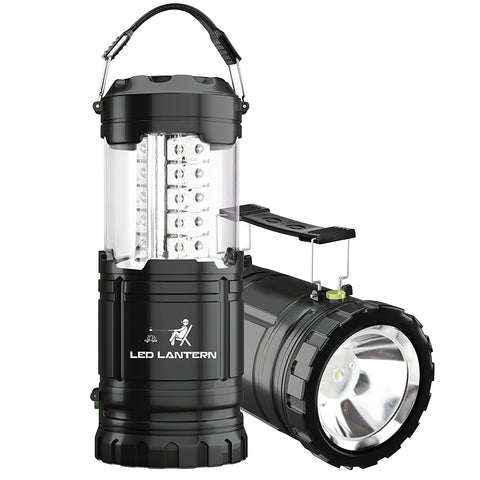 LED Camping Lantern Flashlights - MalloMe