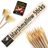 100 Pack 30 Inch Bamboo Roasting Sticks - MalloMe
