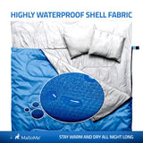Double Camping Sleeping Bag in Blue - MalloMe