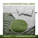 Double Camping Sleeping Bag in Green - MalloMe