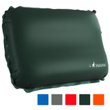MalloMe Inflatable Camping Travel Pillow Soft Foam Green - MalloMe