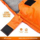 Double Camping Sleeping Bags in Orange - MalloMe
