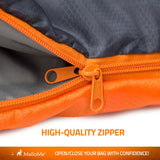 Camping Sleeping Bag (Orange) - MalloMe