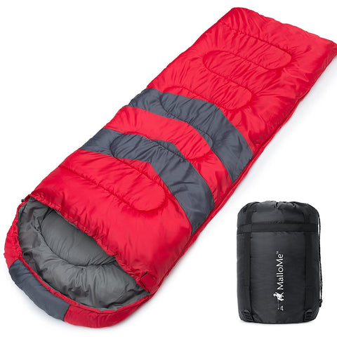 Camping Sleeping Bag in Red - MalloMe