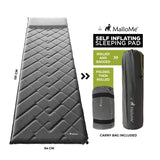 MalloMe Sleeping Pad Camping Air Mattress – Self Inflating Mat Bed Grey - MalloMe