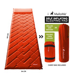 MalloMe Sleeping Pad Camping Air Mattress – Self Inflating Mat Bed Orange - MalloMe