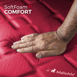 MalloMe Sleeping Pad Camping Air Mattress – Self Inflating Mat Bed Red - MalloMe