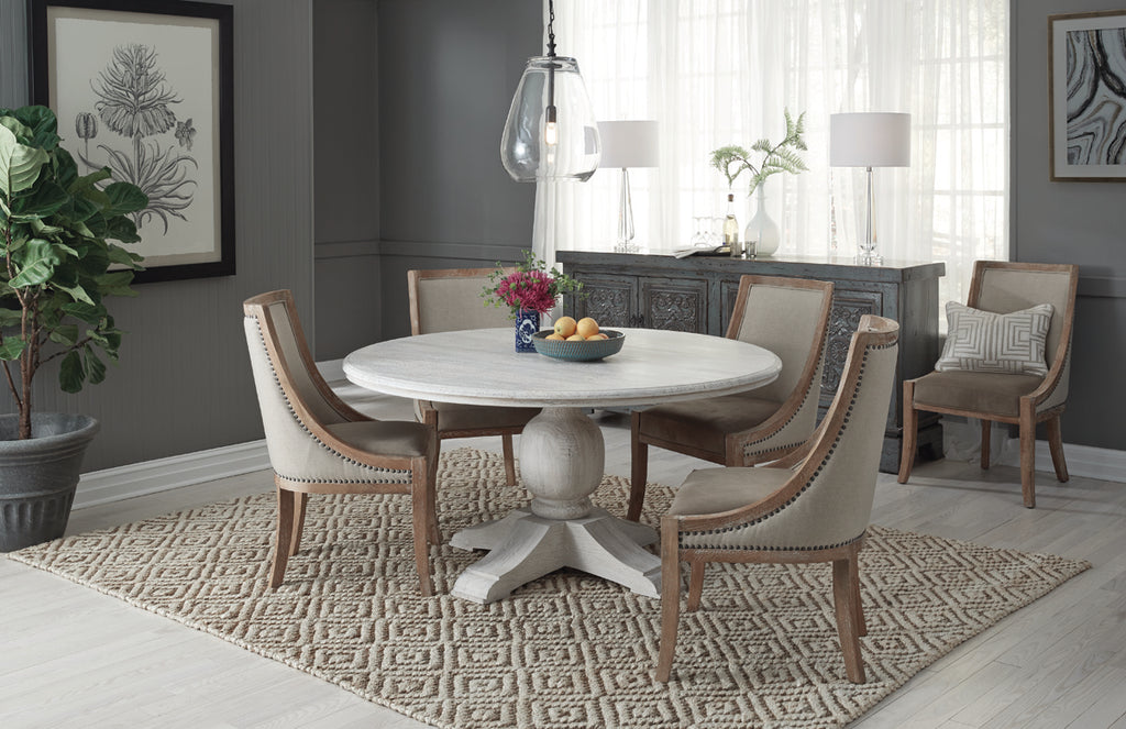 Terme 60 Round Dining Table Antique White Vintage Home Charlotte