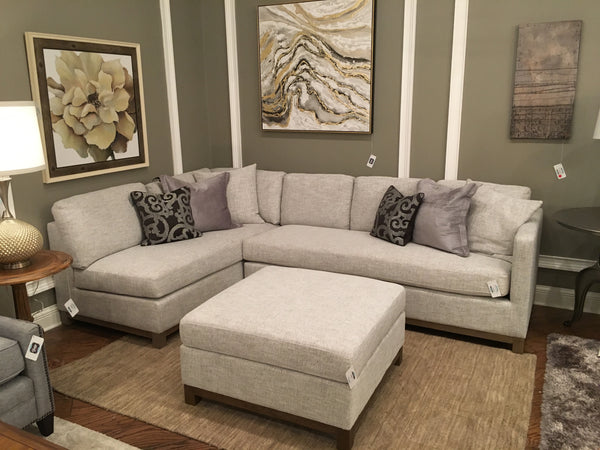 Clifton Sectional - Left Arm Facing - Tweed + Driftwood