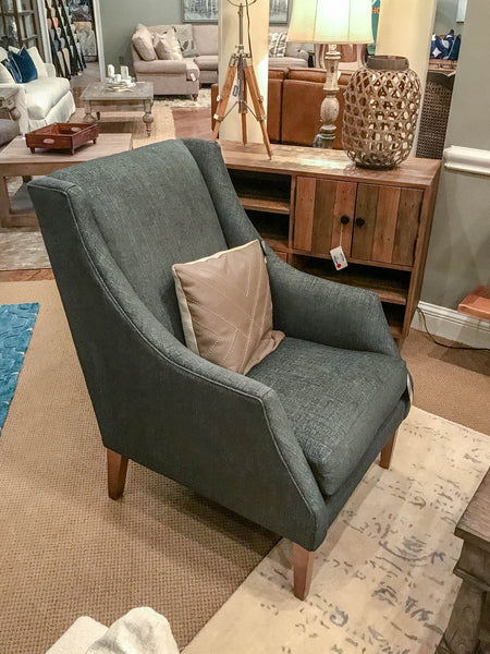 Chatman Feather Down Club Chair - Crypton Charcoal Tweed