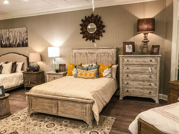 Francine Queen Bed - Queen - Cottage Smoke