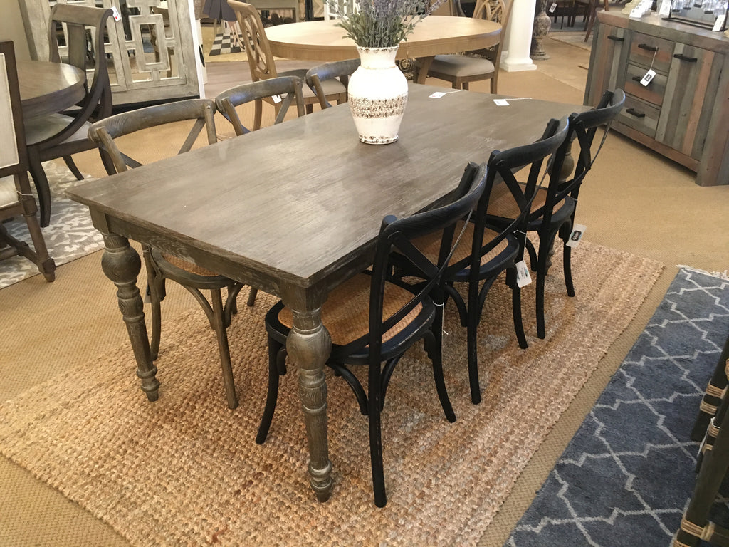 Francesca 71 Quot Dining Table Gray Driftwood Vintage Home