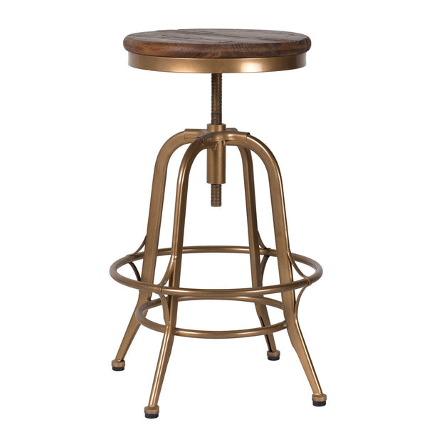 Petra Counter Stool - Brass