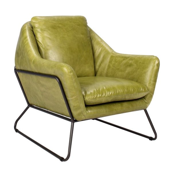 Alanzo Top Grain Club Chair - Lime