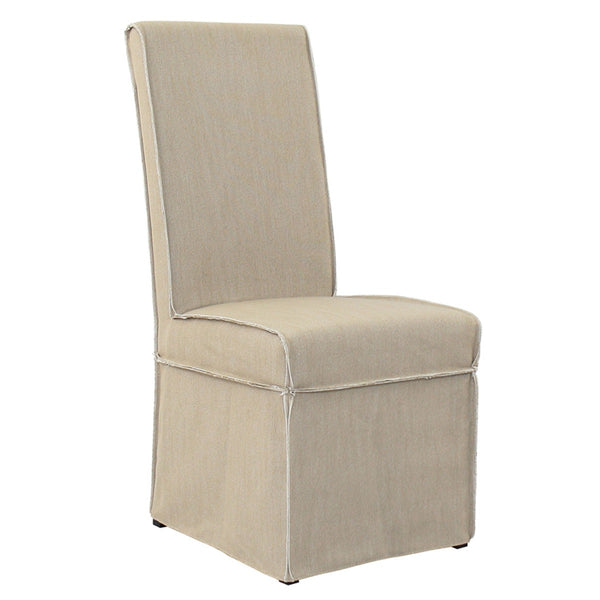 Wallace Slipcover Side Chair - Oat
