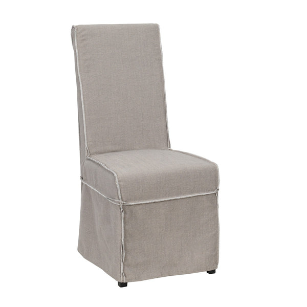 Wallace Slipcover Side Chair - Gray