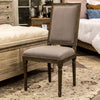 Hartwell Square Side Chair - Dove Grey Linen