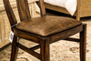 Antony Wood & Leather Side Chair - Dark Walnut