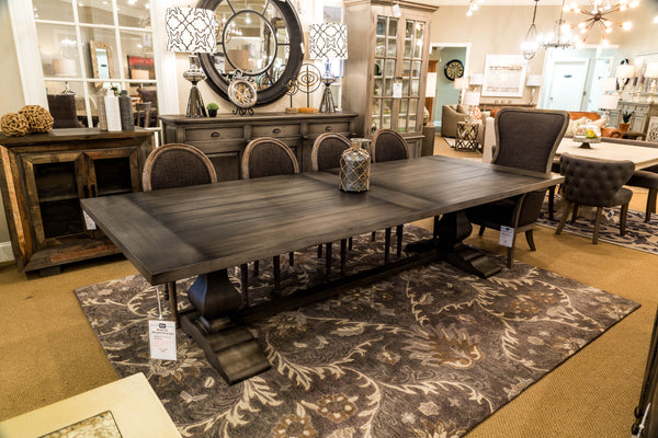 "Weston 120"" Mahogany Dining Table - Dior Gray"