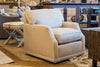 Meredith Down Swivel Chair - Wear Proof Natural Linen
