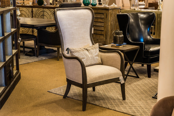 Clarksdale Arm Chair - Taupe + Driftwood