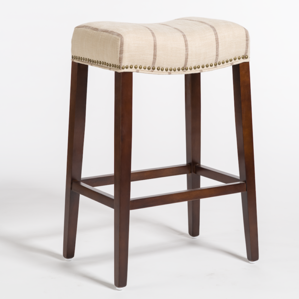 Norman Bar Stool - Striped Canvas