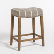 Norman Bar Stool - Graphite + Oak