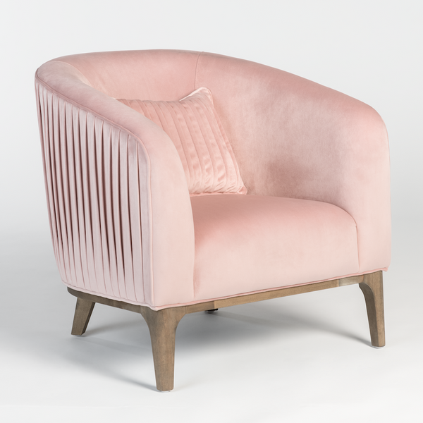 Ardrey Occasional Chair - Blush + Beechwood