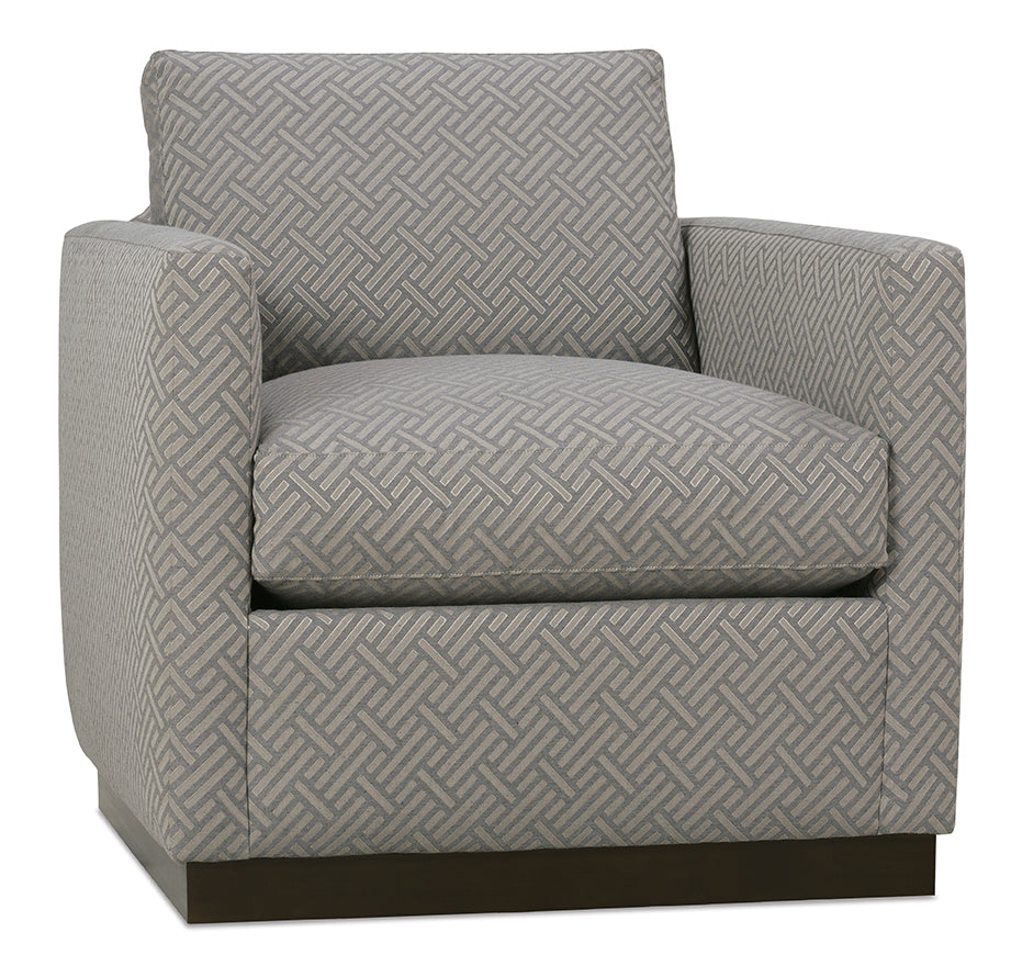 Allison Feather Down Swivel Chair - Crypton Champagne
