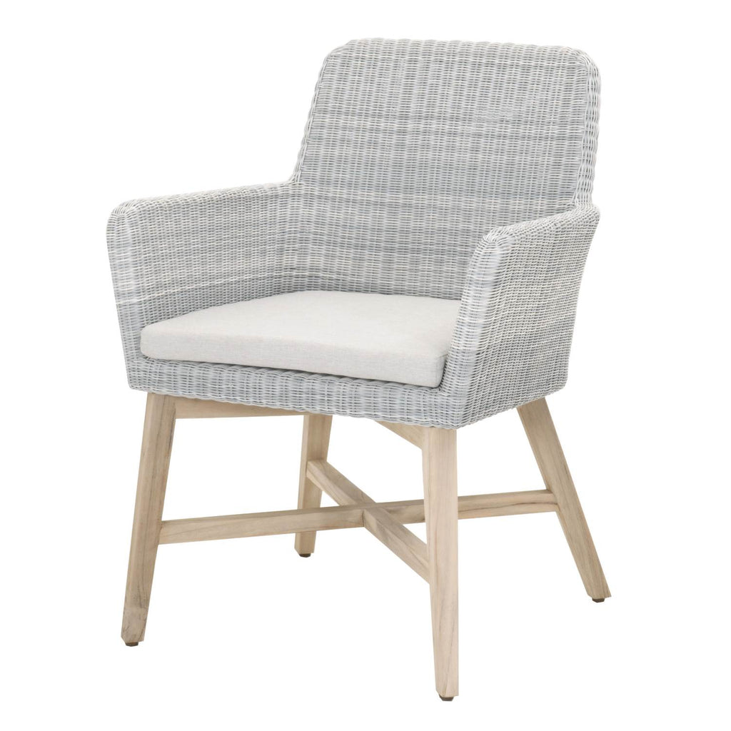 Akevia Teak Outdoor Dining Chair - Ice + Gray