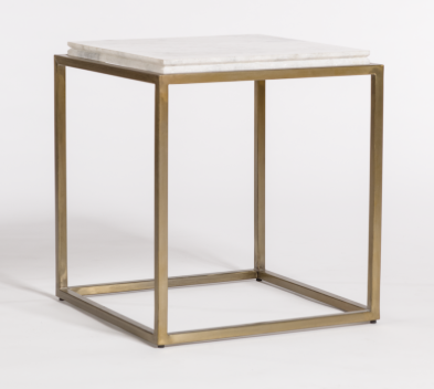 Bennett End Table - Brass