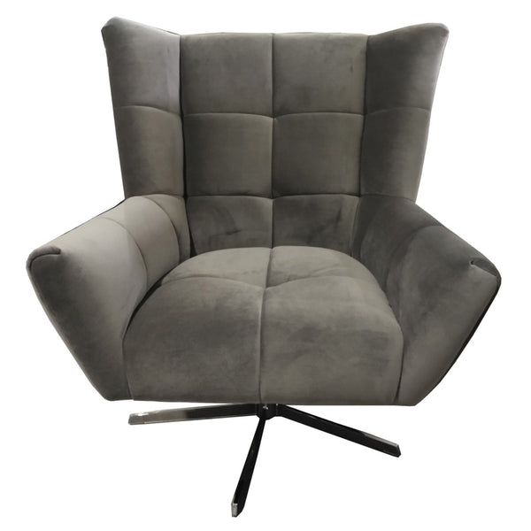 Maris Velvet Occasional Chair - Charcoal