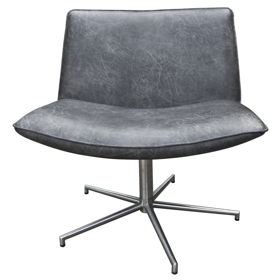 Belfast Faux Leather Occasional Chair - Gray