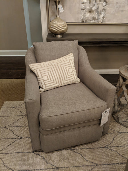 Collins Down Swivel Chair - Crypton Taupe