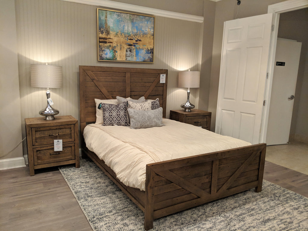 Jocassee Pine Bed - Queen - Burnished Brown