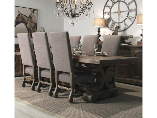 Anniston Side Chair - Granite Ash + Chestnut