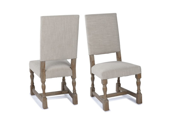 Carmel Side Chair - Natural Linen + Driftwood