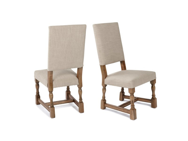 Carmel Side Chair - Natural Linen + Earth
