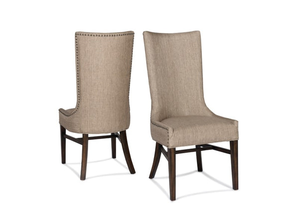 Branson Side Chair - Davis Pewter + Dark Walnut