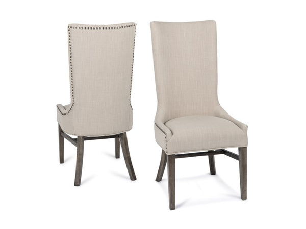 Branson Side Chair - Natural Linen + Driftwood